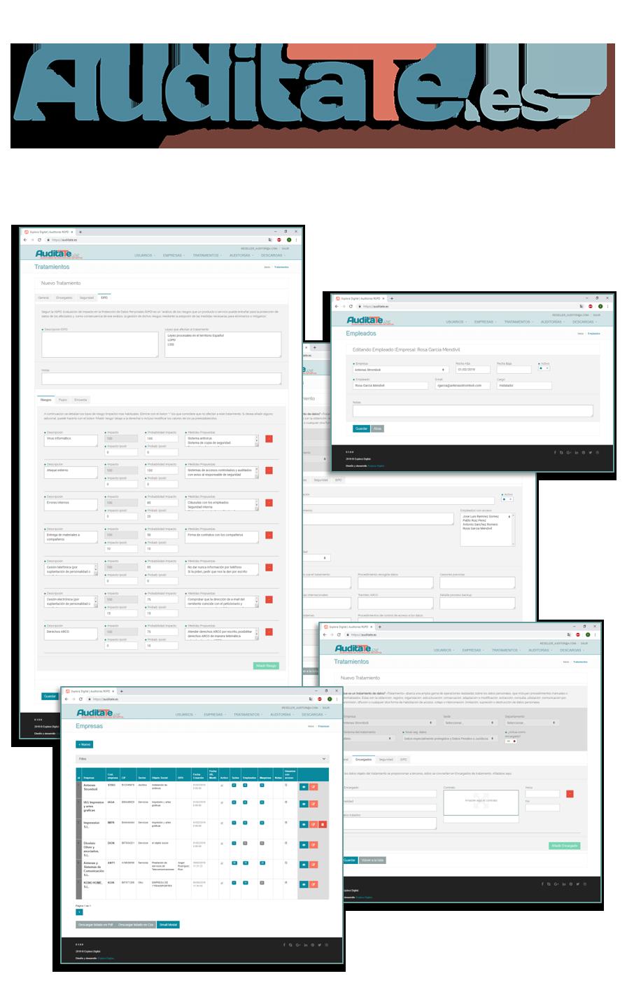 Plataforma para Auditorías de Protección de datos